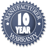 10 Year Manufacture Warranty