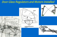 We can replace door motors, guides, regulators & switches