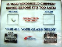 Chipped Windshield? Bill's Glass can fix it